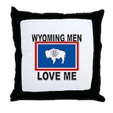 Wyoming Love Me Throw Pillow