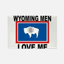 Wyoming Love Me Rectangle Magnet