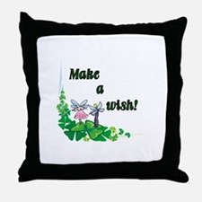 Make a Wish - Pixies Throw Pillow