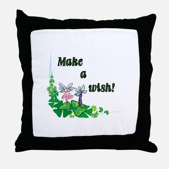 Make a Wish - Pixies Throw Pillow