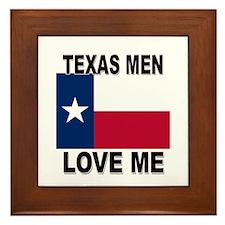 Texas Love Me Framed Tile