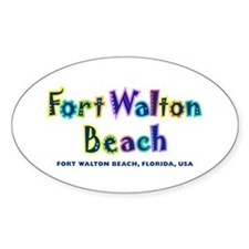 Fort Walton Beach - Oval Decal