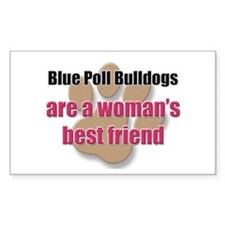 Blue Poll Bulldogs woman's best friend Decal