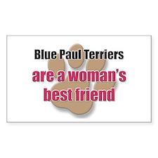 Blue Paul Terriers woman's best friend Decal