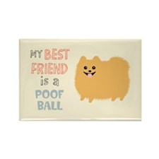 Pomeranian Poof Ball Rectangle Magnet