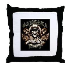 Gangsta Love Throw Pillow