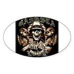 Gangsta Love Oval Sticker