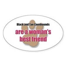 Black and Tan Coonhounds woman's best friend Stick
