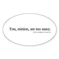 saucy minion Oval Decal