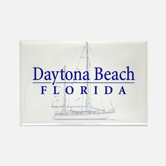 Daytona Beach Sailboat - Rectangle Magnet