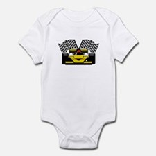 YELLOW RACECAR Infant Bodysuit