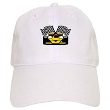 YELLOW RACE CAR Baseball Cap