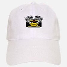 YELLOW RACECAR Baseball Baseball Cap