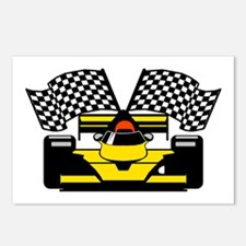 YELLOW RACECAR Postcards (Package of 8)