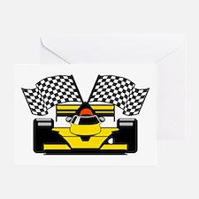 YELLOW RACECAR Greeting Card