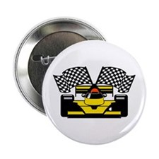 "YELLOW RACE CAR 2.25"" Button"