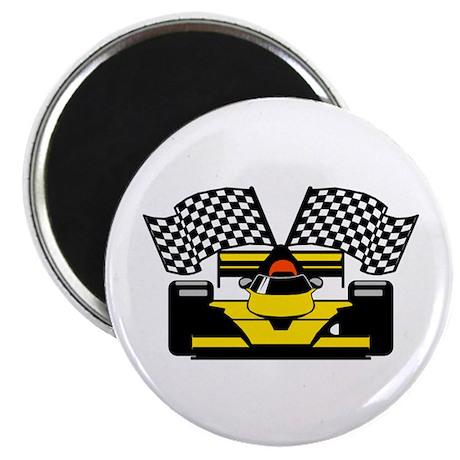 "YELLOW RACECAR 2.25"" Magnet (10 pack)"
