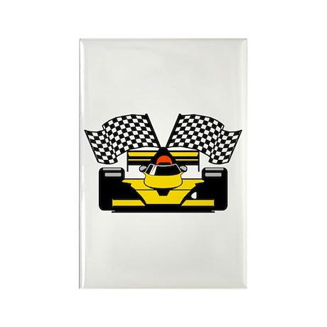 YELLOW RACECAR Rectangle Magnet