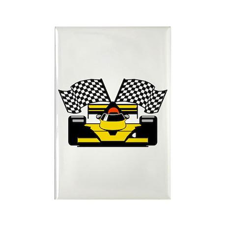 YELLOW RACECAR Rectangle Magnet (10 pack)