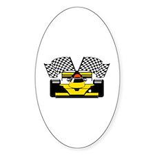 YELLOW RACECAR Decal
