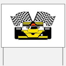 YELLOW RACECAR Yard Sign