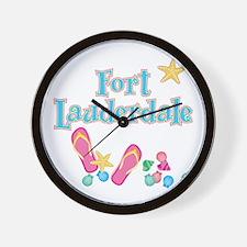 Ft Lauderdale Flip Flops - Wall Clock