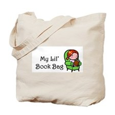 Little Girl Book Tote Bag