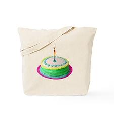 Colored Cake Tote Bag