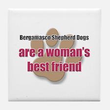 Bergamasco Shepherd Dogs woman's best friend Tile