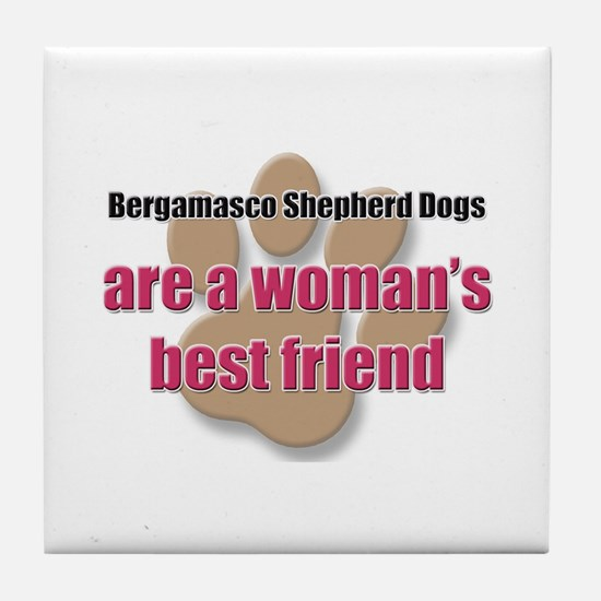 Bergamasco Shepherd Dogs woman's best friend Tile
