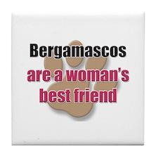 Bergamascos woman's best friend Tile Coaster