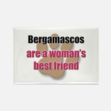 Bergamascos woman's best friend Rectangle Magnet