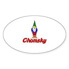 Gnome Chomsky Oval Decal