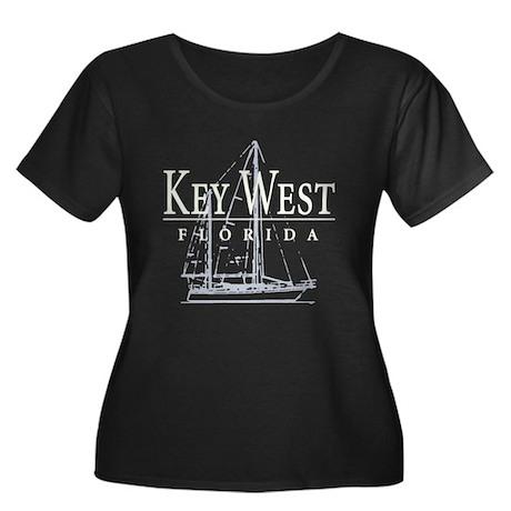 Key West Sailboat - Women's Plus Size Scoop Neck D