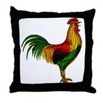 Colorful Rooster Throw Pillow