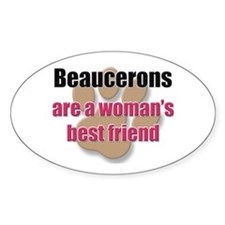 Beaucerons woman's best friend Oval Decal