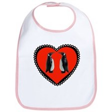 Penguin Heart Bib
