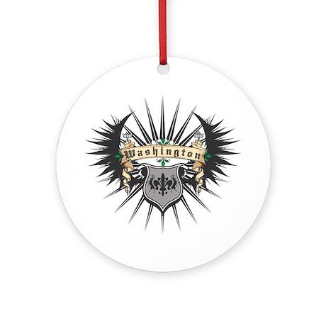 Washington Crest Ornament (Round)