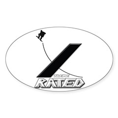 Xtreme Rated-Snowboarding Oval Decal