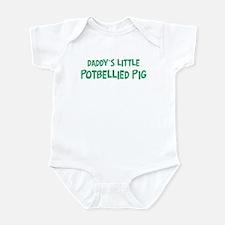 Daddys little Potbellied Pig Infant Bodysuit