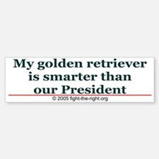 My golden retriever is smarter (bumper sticker)