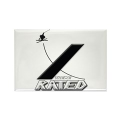 Xtreme Rated-Skiing Rectangle Magnet