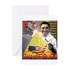 anti Barack Obama propaganda Greeting Card