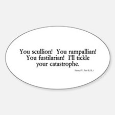 you scullion Oval Decal