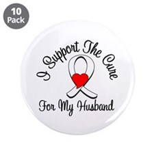"Lung Cancer (Husband) 3.5"" Button (10 pack)"