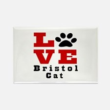Love bristol Cat Rectangle Magnet