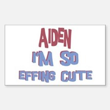 Aiden - So Effing Cute Rectangle Decal