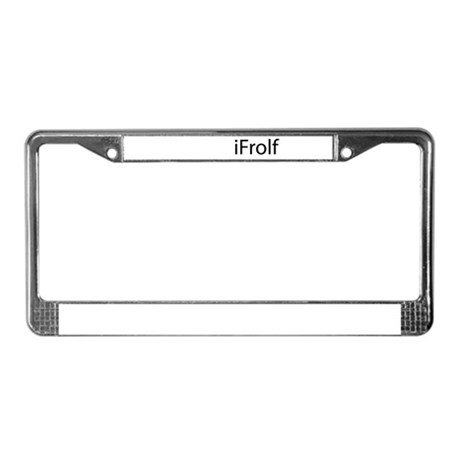 iFrolf License Plate Frame