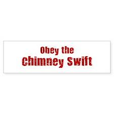 Obey the Chimney Swift Bumper Bumper Sticker