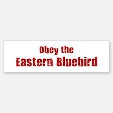 Obey the Eastern Bluebird Bumper Bumper Bumper Sticker